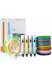 3D Ручка 3D Pen (RP-100B) VIP + Набора ABS пластика 16 цветов (80 метров) + набор цветных трафаретов для рисования + подставка для ручки + сверло для чистки сопла!
