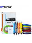 3D Ручка MyRiwell USA Pro + Набор ABS пластика 16 цветов (80 метров) + Сверло для чистки сопла + набор цветных трафаретов для рисования!