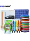 3D Ручка MyRiwell USA Maximum + Набора ABS пластика 16 цветов (160 метров) + набор трафаретов для рисования + подставка для ручки + светящийся PLA пластик для 3D ручки 10 метров + коврик для 3D ручки