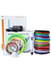 3D Ручка MyRiwell 2 VIP (LCD) + Набора ABS пластика 16 цветов (160 метров) + набор цветных трафаретов для рисования + подставка для ручки + сверло для чистки сопла + светящийся PLA пластик 10 метров!