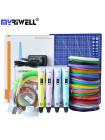 3D Ручка MyRiwell 2 MAXIMUM + Набора ABS пластика 16 цветов (160 метров) + набор трафаретов для рисования + подставка для ручки + светящийся PLA пластик для 3D ручки 10 метров + коврик для 3D ручки!