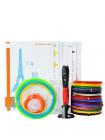3D Ручка Air Pen Polaroid PLAY VIP + Набора ABS пластика 16 цветов (160 метров) + набор трафаретов для рисования + подставка для ручки + светящийся PLA пластик 10 метров + лопатка для снятия рисунков!