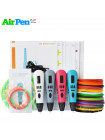 3D Ручка Air Pen Mixed Colors MP01 VIP + Набора ABS пластика 16 цветов (160 метров) + набор цветных трафаретов для рисования + сверло для чистки сопла + cветящийся PLA пластик 10 метров!