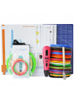 3D Ручка Air Pen Mixed Colors MP01 VIP + Набора ABS пластика 16 цветов (160 метров) + набор цветных трафаретов для рисования + сверло для чистки сопла + cветящийся PLA пластик 10 метров + Коврик А4 + лопатка!