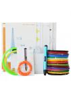 3D Ручка Dewang X4 5.0 VIP + Набора ABS пластика 16 цветов (160 метров) + набор трафаретов для рисования + подставка для ручки + светящийся PLA пластик 10 метров!