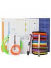 3D Ручка Dewang X4 MAXIMUM + Набора ABS пластика 16 цветов (160 метров) + набор трафаретов для рисования + подставка для ручки + лопатка для снятия рисунков + светящийся PLA пластик 10 метров + коврик A4 + kопатка!