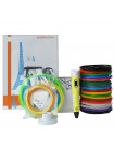 3D Ручка Dewang USA X2 VIP + Набора ABS пластика 16 цветов (160 метров) + набор цветных трафаретов для рисования + подставка для ручки + сверло для чистки сопла + светящийся PLA пластик 10 метров!