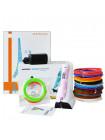 3D ручка MyRiwell Stereo Drawing (RP-200B) PRO + Набора PLA пластика 14 цветов (70 метров) набор трафаретов для рисования + набор PCL пластика + сверло для чистки сопла!