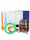 3D Ручка Air Pen Ultra Pro (RP-900A) MAXIMUM + Набора ABS пластика 16 цветов (160 метров) + набор трафаретов для рисования + светящийся PLA пластик 10 метров + лопатка + коврик А4!