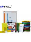 3D Ручка MyRiwell RP-300A Smart PRO + Набора PCL пластика 12 цветов (60 метров) + набор трафаретов для рисования + сверло для чистки сопла!