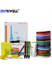 3D Ручка MyRiwell RP-300A Smart VIP + Набора PCL пластика 12 цветов (120 метров) + набор цветных трафаретов для рисования + сверло для чистки сопла + лопатка для снятия рисунков!