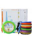 3D ручка Myriwell RP200A USB (Submarine) VIP + Набор пластика PLA 140 метров (14 цветов по 10 метров) + набор цветных трафаретов для рисования + подставка для ручки + сверло для чистки сопла + светящийся PLA пластик 10 метров!