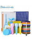 3D Ручка Dewang D8 Bear MAXIMUM + Набора PCL пластика 12 цветов (120 метров) + набор цветных трафаретов для рисования + сверло для чистки сопла + 4 шаблона пластиковых + наклейки + лопатка + Коврик А4!