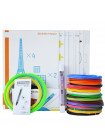 3D Ручка MyRiwell RP-100C Portable VIP + Набора ABS пластика 16 цветов (160 метров) + набор трафаретов для рисования + подставка для ручки + светящийся PLA пластик 10 метров!