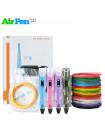 3D Ручка Air Pen 2S PRO + Набора ABS пластика 16 цветов (80 метров) + набор цветных трафаретов для рисования + сверло для чистки сопла!