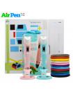 3D Ручка Air Pen 3S PRO + Набор ABS пластика 16 цветов (80 метров) + набор цветных трафаретов для рисования!