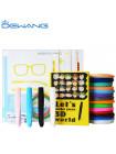 Умная 3D Ручка Dewang D12 PRO + Набора ABS пластика 16 цветов (80 метров) + сверло для чистки сопла + набор цветных трафаретов для рисования!