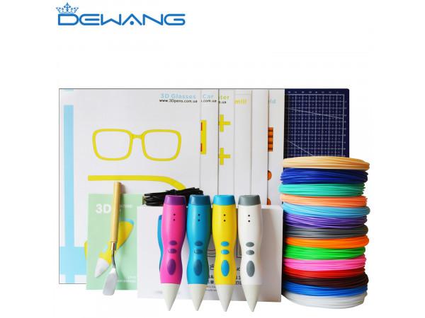 3D Ручка Dewang D10 MAXIMUM + Набора PCL пластика 12 цветов (120 метров) + набор трафаретов для рисования + сверло для чистки сопла + лопатка + Коврик А4!