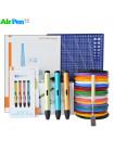 3D Ручка Air Pen Play V6 VIP + Набора PLA пластика 12 цветов (180 метров) + набор трафаретов для рисования + подставка для ручки + лопатка для снятия рисунков + светящийся PLA пластик 10 метров + коврик для 3D ручки!