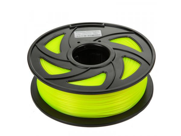 PLA пластик Filament 1.75 мм 1 кг (Зеленый флюр)