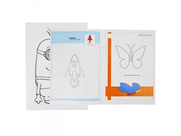 Книга с трафаретами для 3D ручки №3