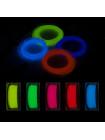 Светящийся PLA пластик для 3D ручки 50 метров (5 цветов по 10 метров)
