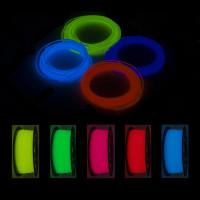 Светящийся PLA пластик для 3D ручки 50 метров (10 цветов по 5 метров)