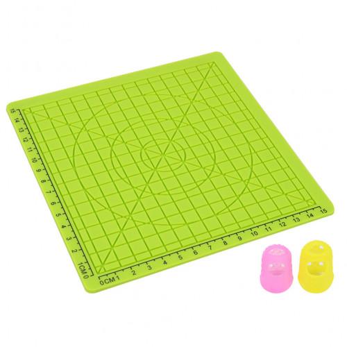 Силиконовый коврик для 3D ручек №1 (Green)