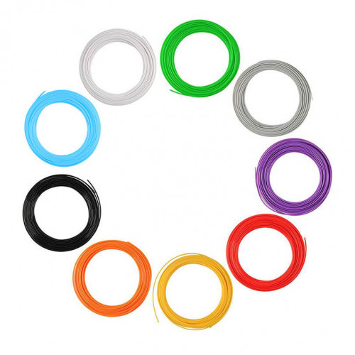 Набор пластика ABS для 3D ручек 40 метров (8 цветов по 5 метров)