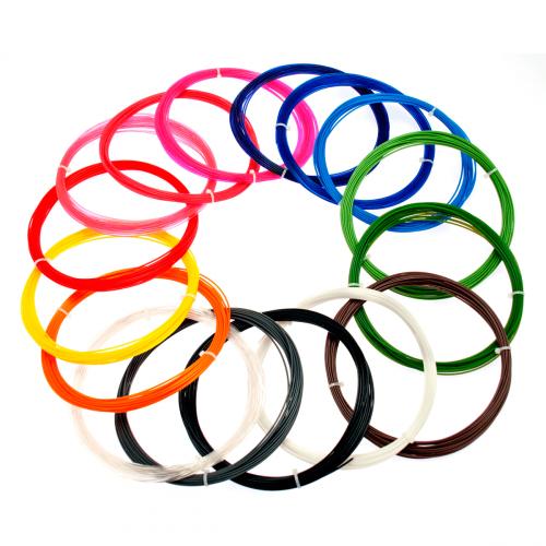 Набор пластика PLA для 3D ручек 70 метров (14 цветов по 5 метров)