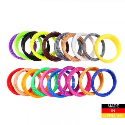 Набор пластика ABS+ для 3D ручек 160 метров (16 цветов по 10 метров)