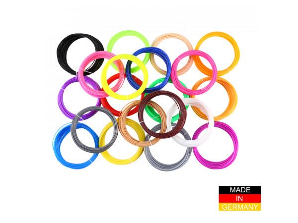 Набор пластика ABS+ для 3D ручек 320 метров (16 цветов по 20 метров)