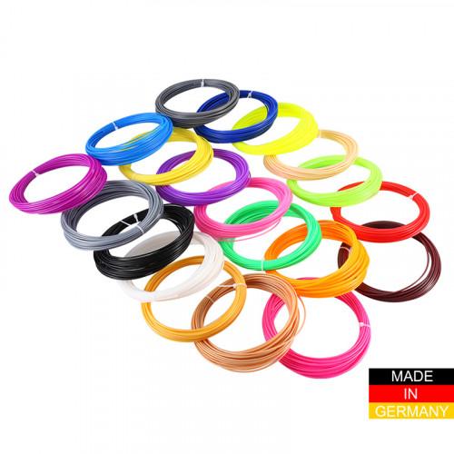 Набор пластика ABS+ для 3D ручек 400 метров (16 цветов по 25 метров)