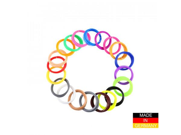 Набор пластика ABS+ для 3D ручек 80 метров (16 цветов по 5 метров)
