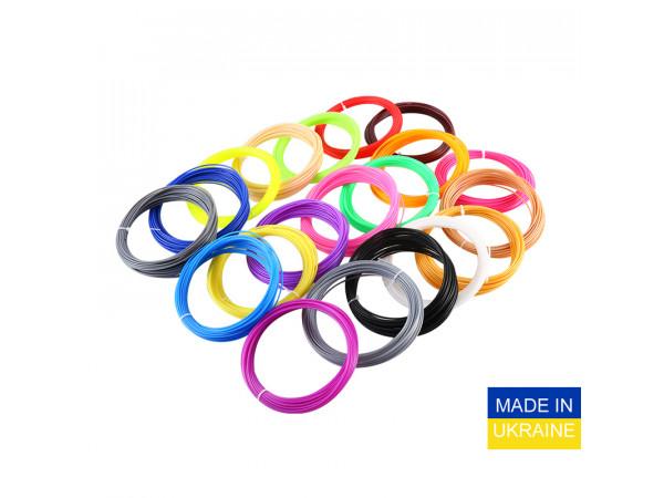 Набор пластика ABS для 3D ручек 400 метров (16 цветов по 25 метров)