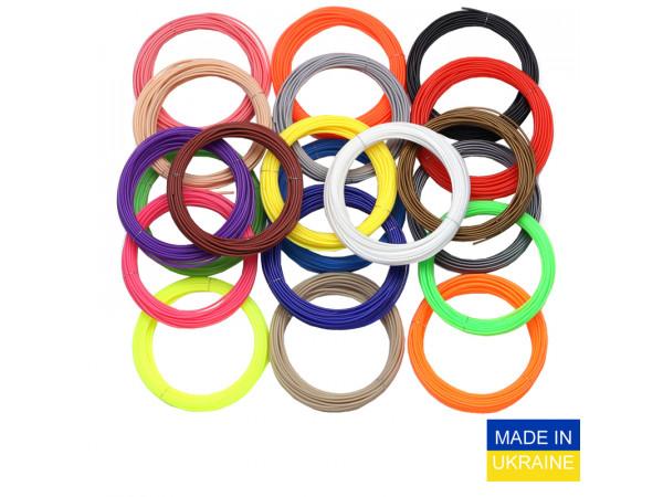 Набор пластика ABS для 3D ручек 560 метров (16 цветов по 35 метров)