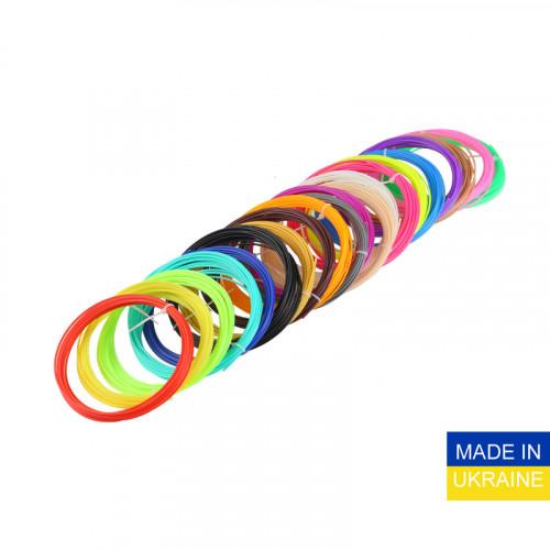 Набор пластика ABS для 3D ручек 160 метров (16 цветов по 10 метров)