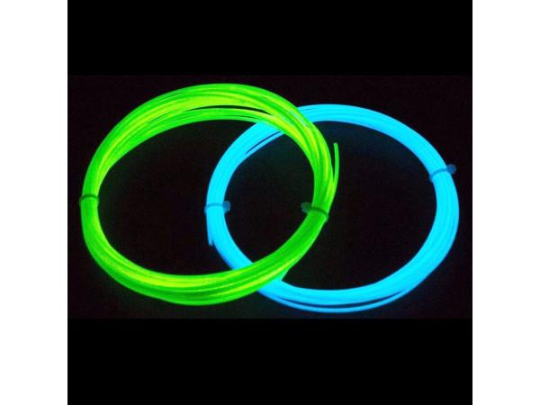 Светящийся PLA пластик для 3D ручки 10 метров (Green and Blue)