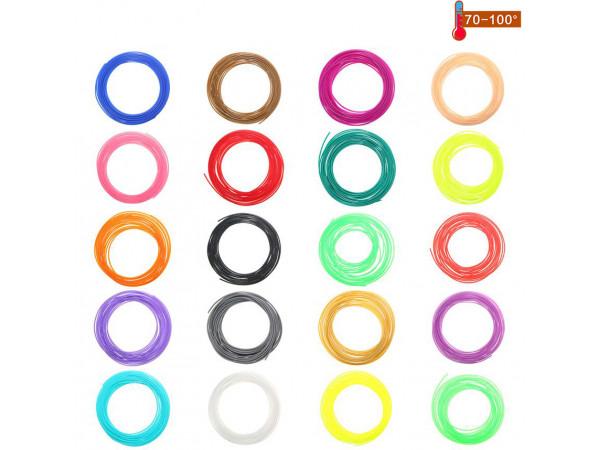 Набор пластика PCL для 3D ручек 120 метров (12 цветов по 10 метров)