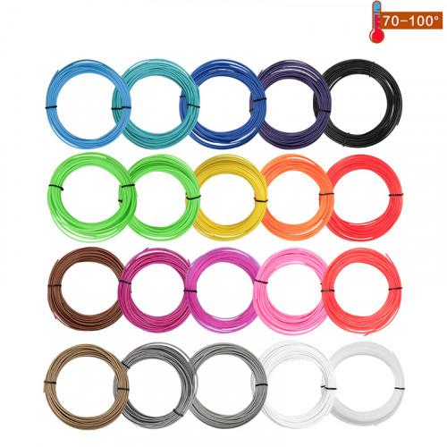 Набор пластика PCL для 3D ручек 180 метров (12 цветов по 15 метров)