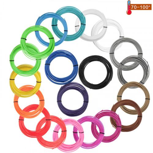 Набор пластика PCL для 3D ручек 240 метров (12 цветов по 20 метров)