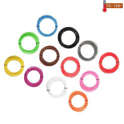 Набор пластика PCL для 3D ручек 60 метров (12 цветов по 5 метров)