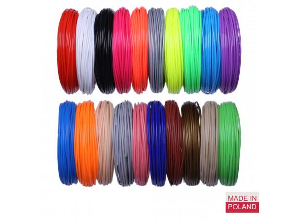 Набор пластика PLA для 3D ручек 490 метров (14 цветов по 35 метров)