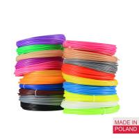 Набор пластика PLA для 3D ручек 60 метров (12 цветов по 5 метров)