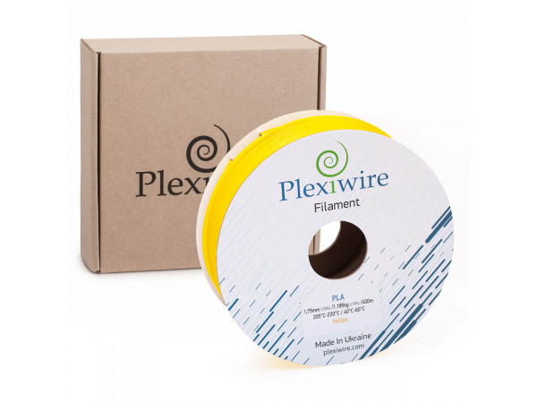 PLA пластик для 3D принтера 1.75мм желтый (400м / 1.185кг)